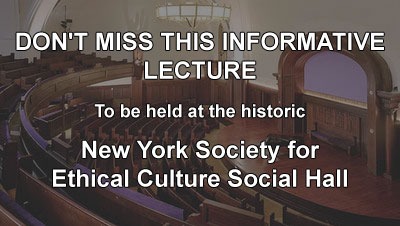 Dr. Banker Natural Vision Improvement Lecture at the New York Society for Ethical Culture